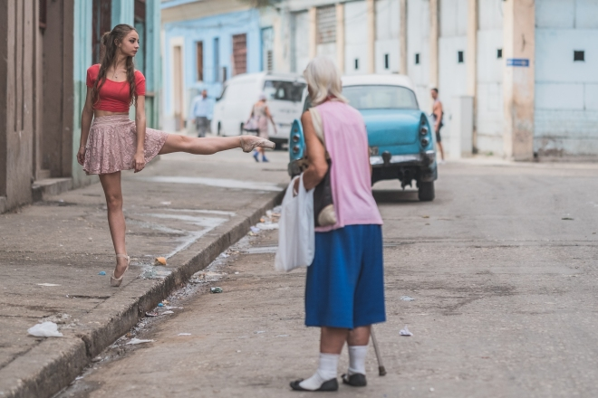 Omar Z Robles | Dancers Practicing On The Streets Of Cuba, #artpeople